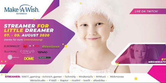 """Charity Stream """"Streamer for Little Dreamer"""" hosted by MrsXeniaTV"""