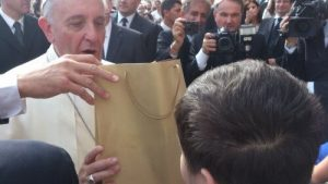Hrvoje trifft den Papst