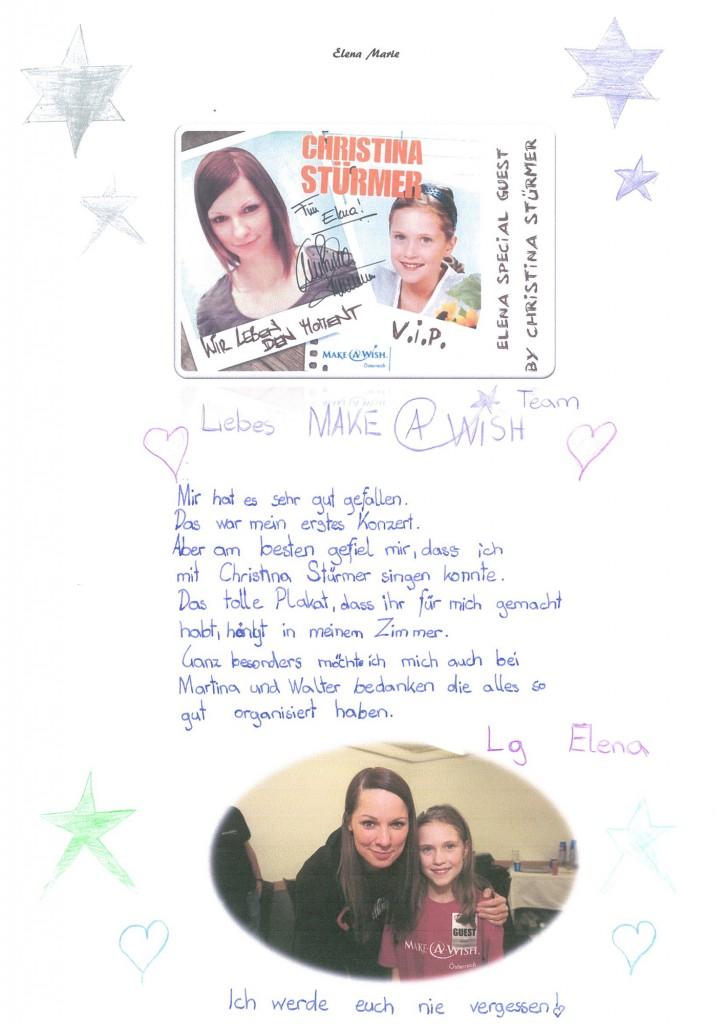 Dankesbrief Elena