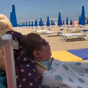 Maximilian entspannt im Italienurlaub