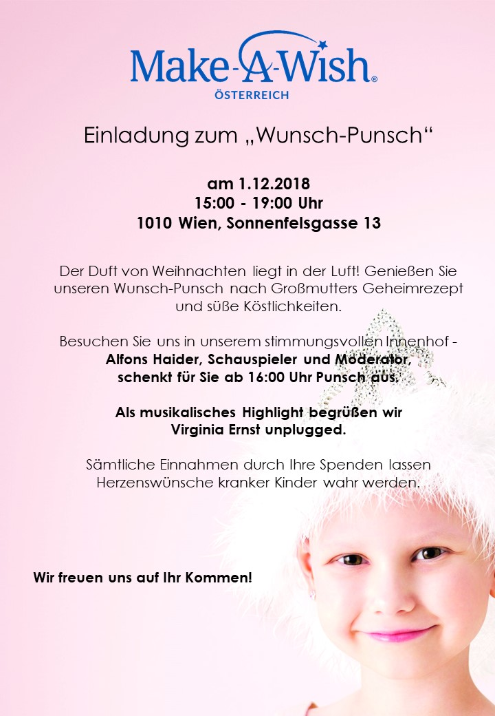 Save the Date: unser Wunsch-Punsch 2018