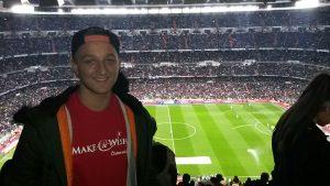 Daniel fiebert mit Cristiano Ronaldo mit