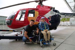 Hubschrauberflug mit Felix Baumgartner