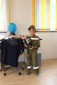 Jonas wünscht sich ein Feuerwehrzimmer