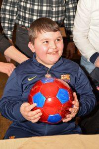 Signierter FC Barcelona Ball für Lindrit