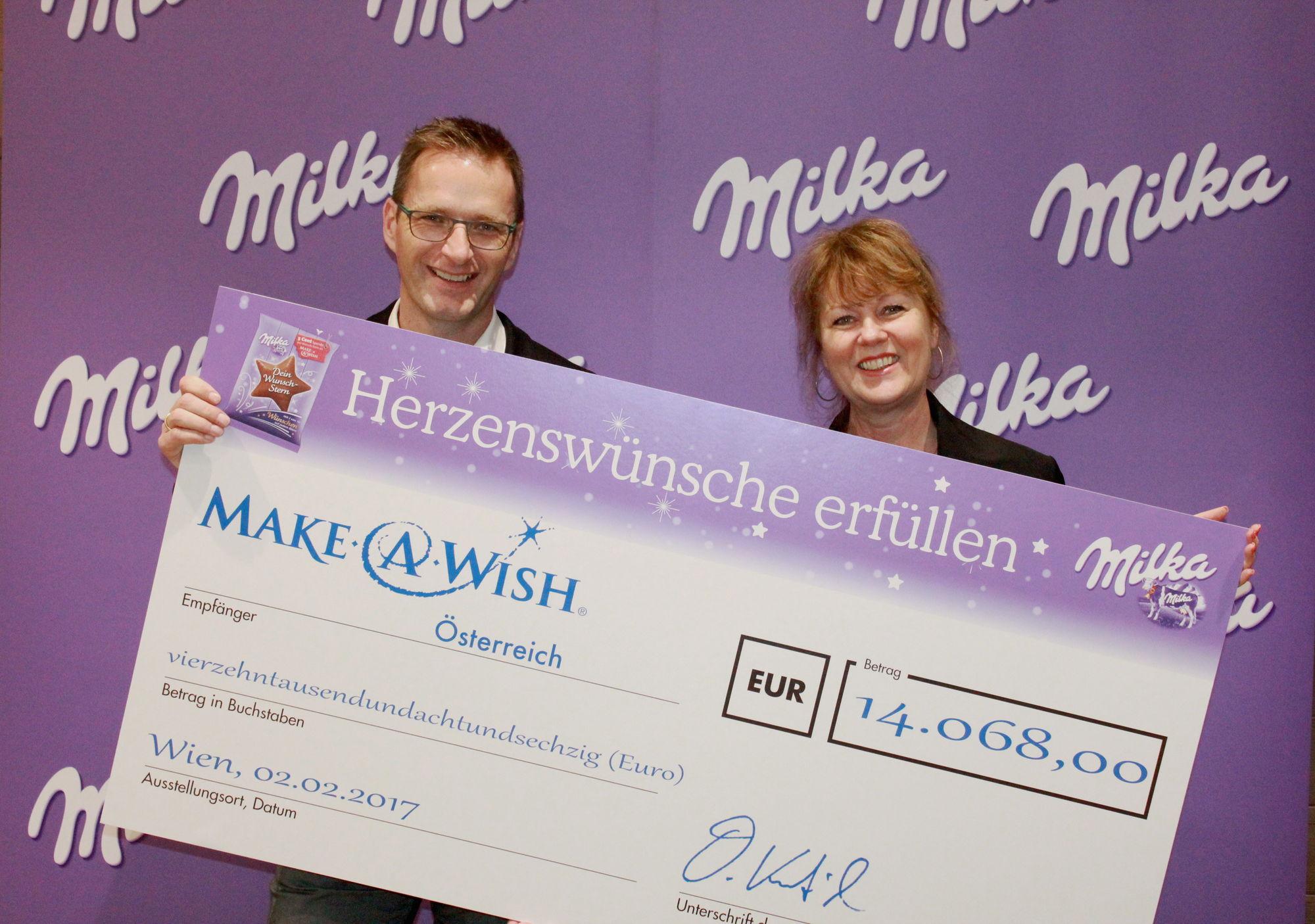 Milka spendet 14.068€