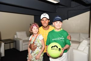 Moritz trifft Rafael Nadal