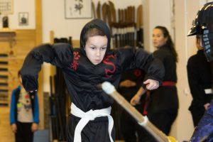 Rafael trifft einen echten Ninja