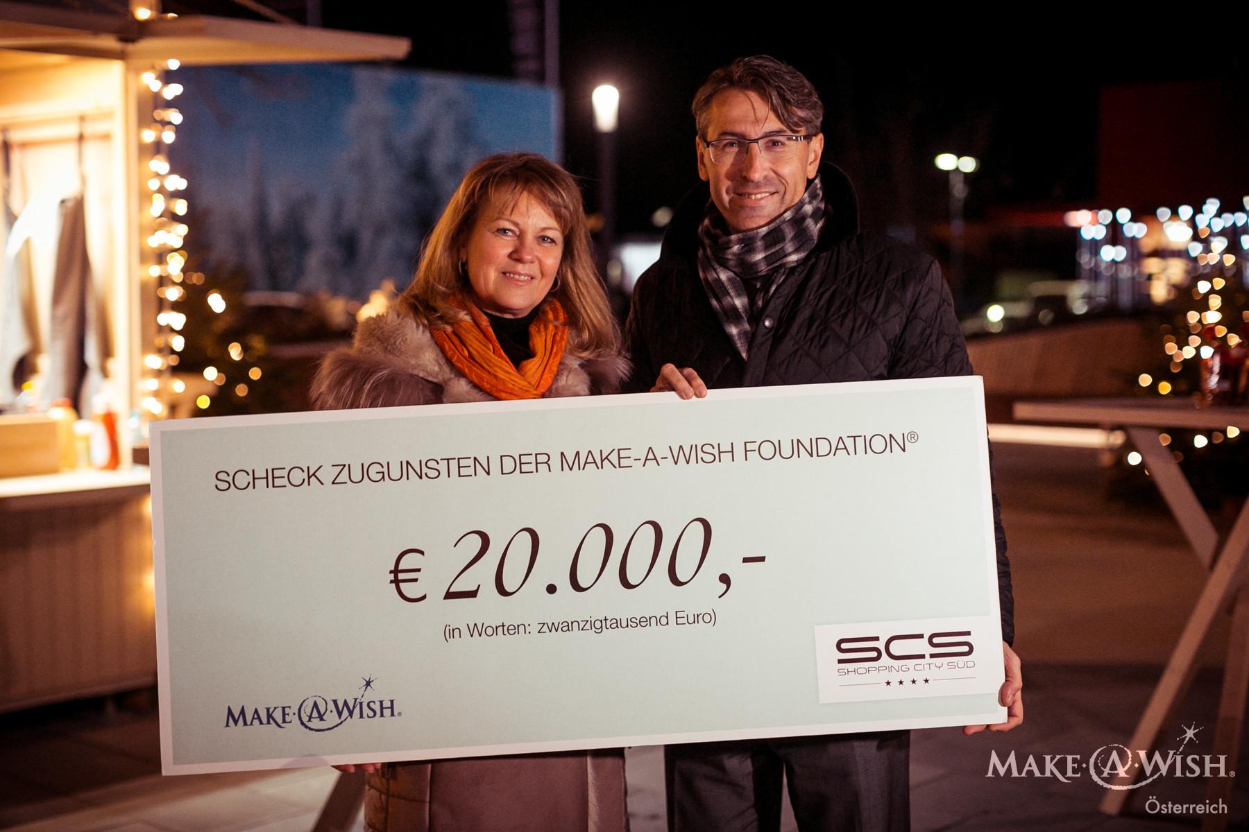 20.000 € von unserem Partner SCS