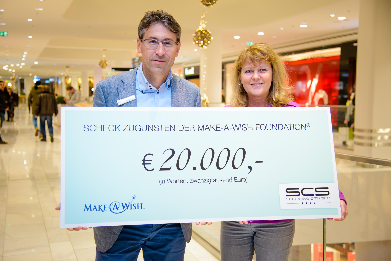Shopping City Süd spendet 20.000€