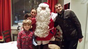 Danilo trifft den Weihnachtsmann